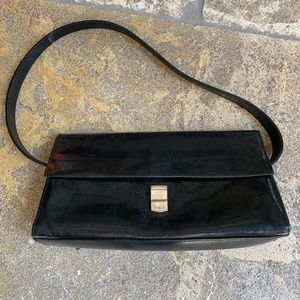 Furla Classic Black Leather Shoulder Bag